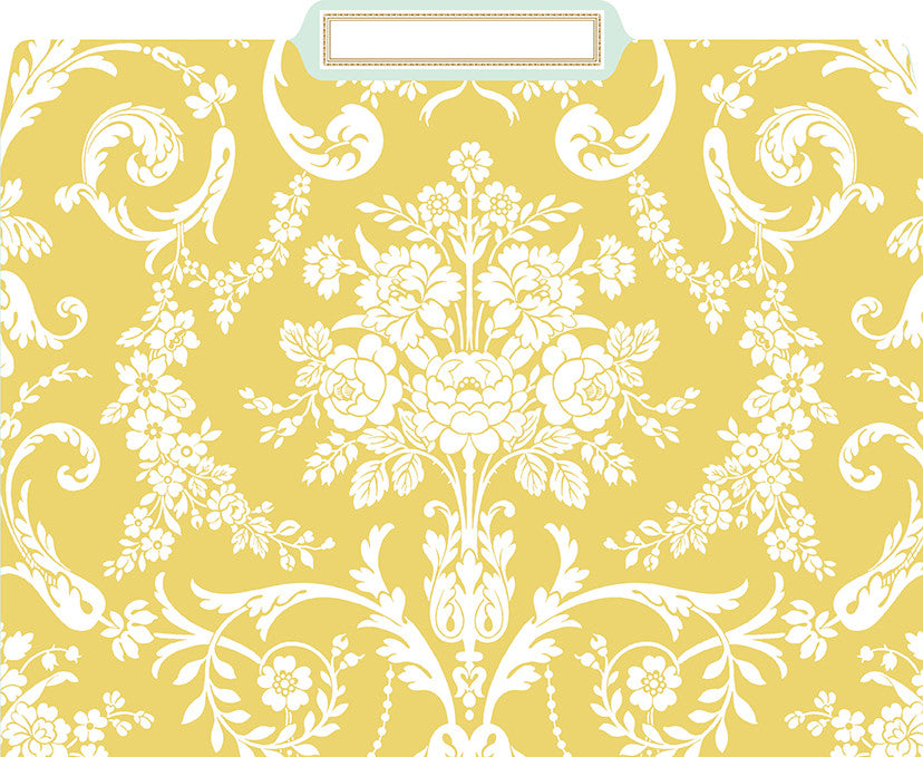 Anna Griffin Amelie Damask File Folders, Box of 12