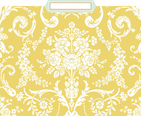 anna griffin amelie damask file folders box of 12