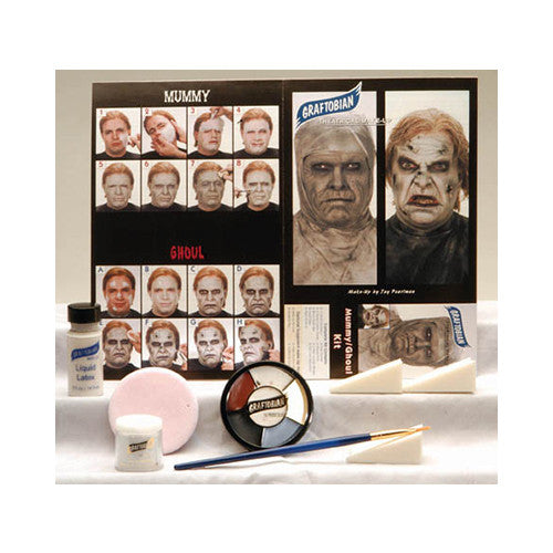 Graftobian Professional Mummy/Zombie Complete Make-up Kit with Instructions