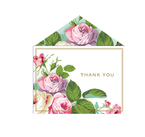 Anna Griffin Thank You Cards - Amelie Floral Collection (Box of 12) - KeepYoungForever