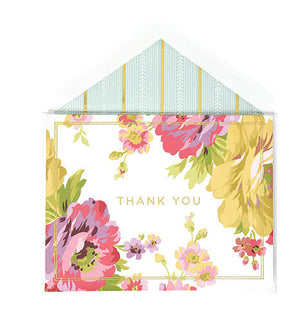 Anna Griffin Thank You Cards - Rose Collection (Box of 12) - KeepYoungForever