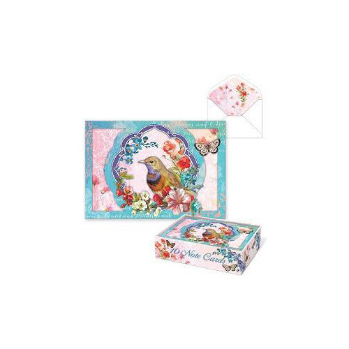 Punch Studio Box Cards Bird Wreath