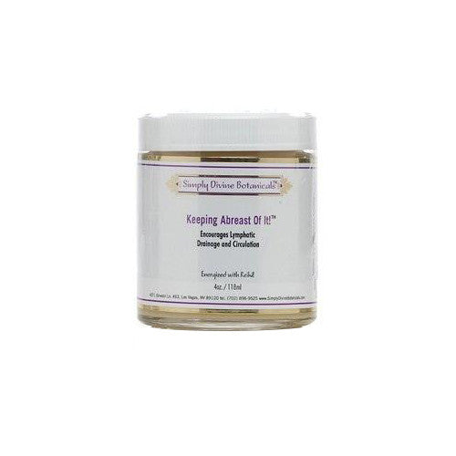 Simply Divine Botanicals Keeping Abreast of It Cream - For Lymphatic Drainage - 1