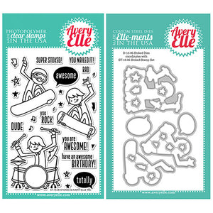 Avery Elle Stoked Stamp and Die Set - KeepYoungForever