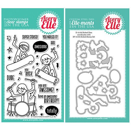 Avery Elle Stoked Stamp and Die Set - 1