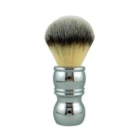 Chrome Silvertip Plissoft Synthetic Shaving Brush By RazoRock - KeepYoungForever