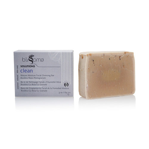 Blissoma Clean - Mature Moisture Facial Cleansing Bar, Rooibos/Rose/Pomegranate - 1