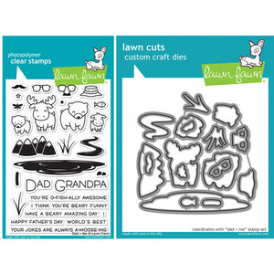 Lawn Fawn Dad + Me Stamp (LF1163) and Die (LF1164) Set - KeepYoungForever