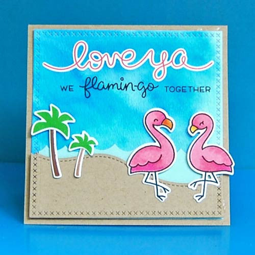 Lawn Fawn Flamingo Together Stamp (LF1173) and Die (LF1174) Set - 5