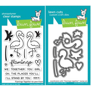 Lawn Fawn Flamingo Together Stamp (LF1173) and Die (LF1174) Set - KeepYoungForever