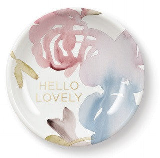 Fringe Studio Round Mini Procelain Tray - Hello Lovely