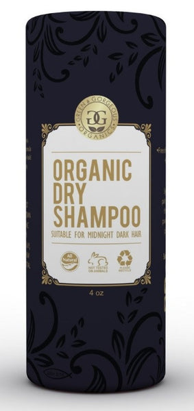 Green & Gorgeous Organics Natural Dry Shampoo Powder for Dark Brown and Oily Hair - Grapefruit & Sweet Orange 4 oz.