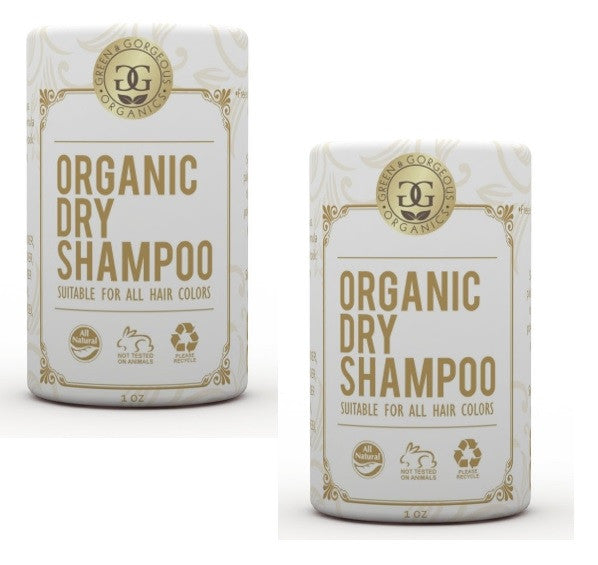 Green & Gorgeous Organics Dry Shampoo - Unscented 2 Pack, 1 oz each