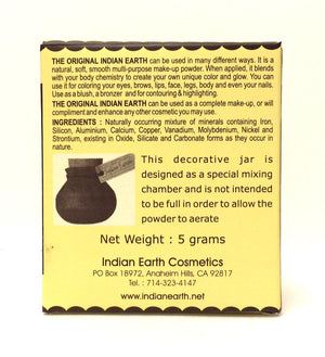 Indian Earth Original Makeup Powder - 5 grams - KeepYoungForever