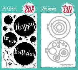 Avery Elle Balloons Clear Stamp and Elle-Ments Die Set - 1