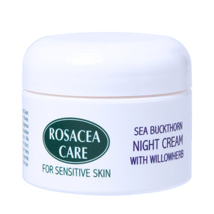 Rosacea Care Night Cream - Nourishing, deep moisturizer for rosacea skin (1 Oz)