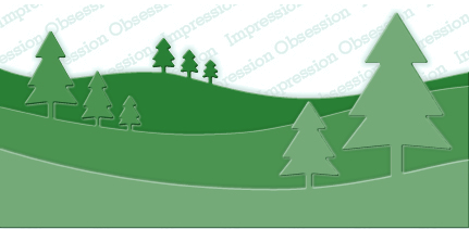 Impression Obsession Tree Landscape Layers Craft Die (DIE346-YY)