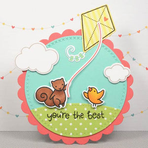 Lawn Fawn Yay, Kites! Stamp (LF1169) and Die (LF1170) Set - KeepYoungForever