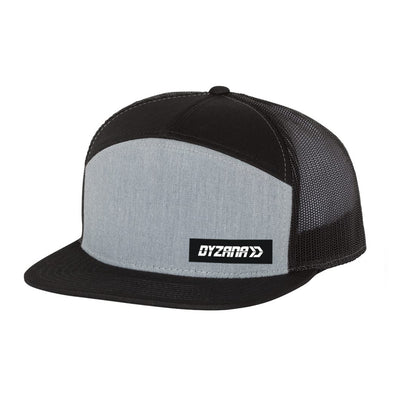 7 Panel Trucker Hat - Grey