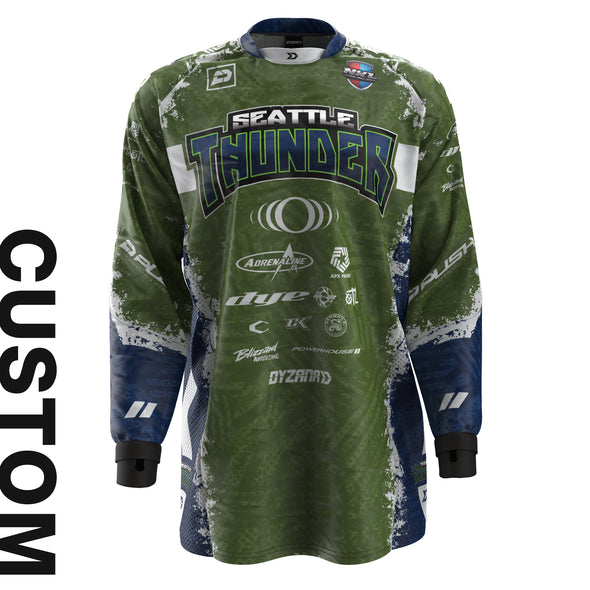 Grind Air Jersey - Thunder Olive - Custom
