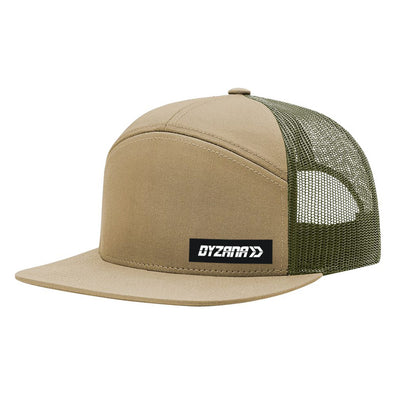 7 Panel Trucker Hat - Tan