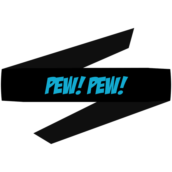 Pew Pew Blue Headband