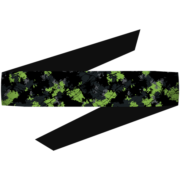 SplatterCamo Lime Headband