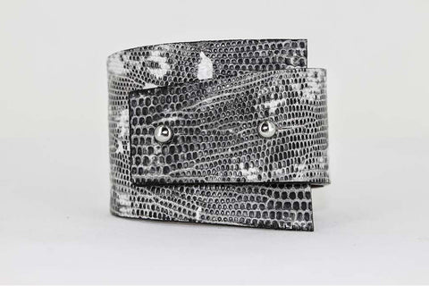 Moselle Cuff - Lizard - Stormy