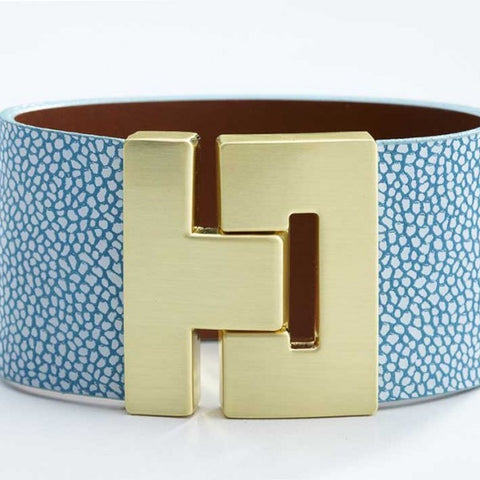 Odet Bracelet - Leather - Mosaic Blue