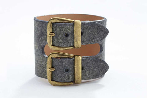 Rhône Bracelet - Leather - Dusted Grey