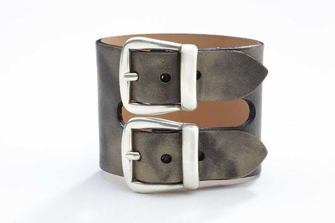 Rhône Bracelet - Leather - Washed Grey