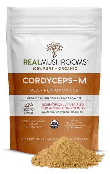 Real Mushrooms Organic Cordyceps Mushroom Extract Powder
