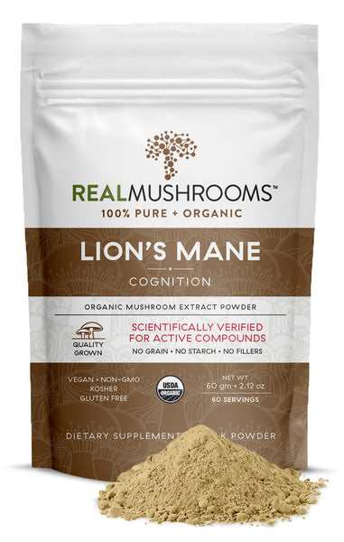 Real Mushrooms Organic Lion's Mane Mushroom Extract Powder