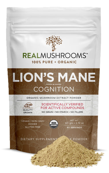 Real Mushrooms Lions Mane Organic Mushroom Extract Powder