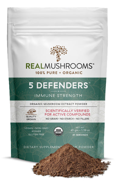 Real Mushrooms Organic 5 Defenders Mushroom Extract Powder