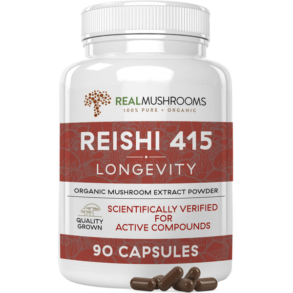 organic reishi mushroom extract capsules by Real Mushrooms