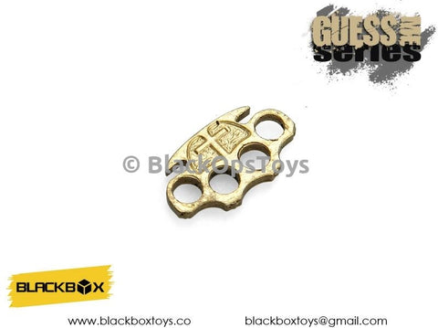 Hell Detective Constantine Gold Metal Brass Knuckles