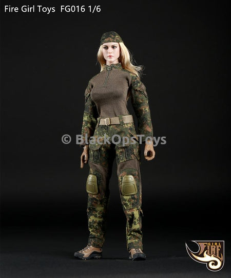 PREORDER Tactical Female Gunners Camouflage Suit in Flecktarn