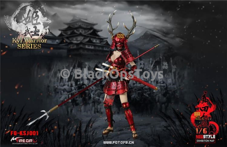 PREORDER Warring States of Japanese Women Warrior Suit Red MINT IN BOX