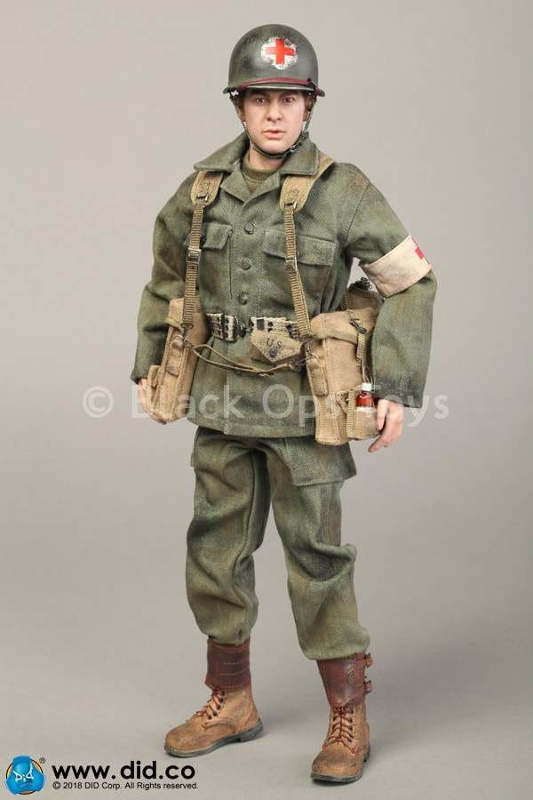 DID 1//6 SCALE WWII AMERICAN UNIFORM SHIRT FROM DIXON COMBAT MEDIC BOX A80126