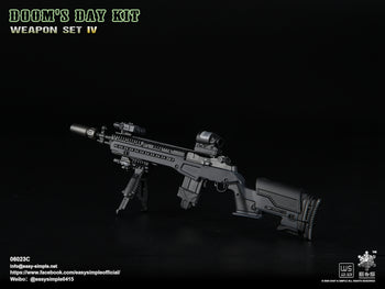 Doom's Day Kit Weapon Set IV - Black M14 Rifle - MINT IN BOX