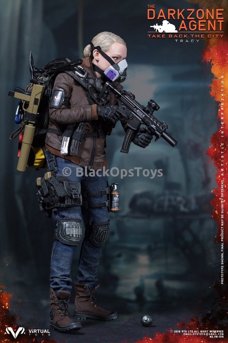 VTS Darkzone Agent Tracy Brown Coat Version Tan MAC 11 Rifle