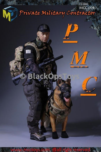 PMC Private Military Contractor & Dog w/Gear Version Mint In Box