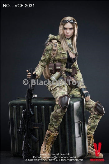 Multicam Camouflage Women Soldier VILLA 2031 Mint in Box