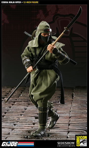 GI JOE - Cobra Ninja Viper - Grey & Black Uzi w/Suppressor