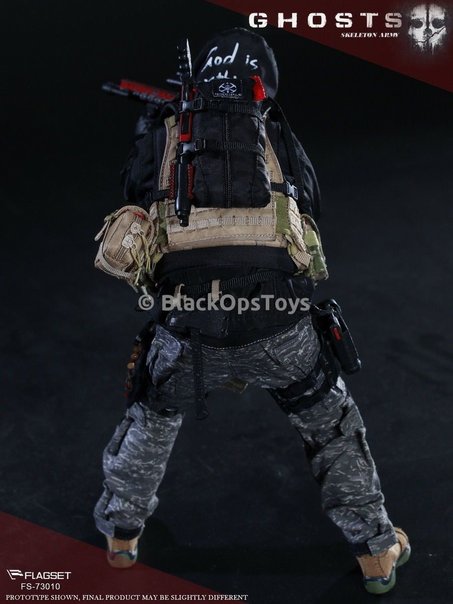"Doomsday End War Death Squad ""K"" Caesar Call Of Duty Ghosts Black Backpack"