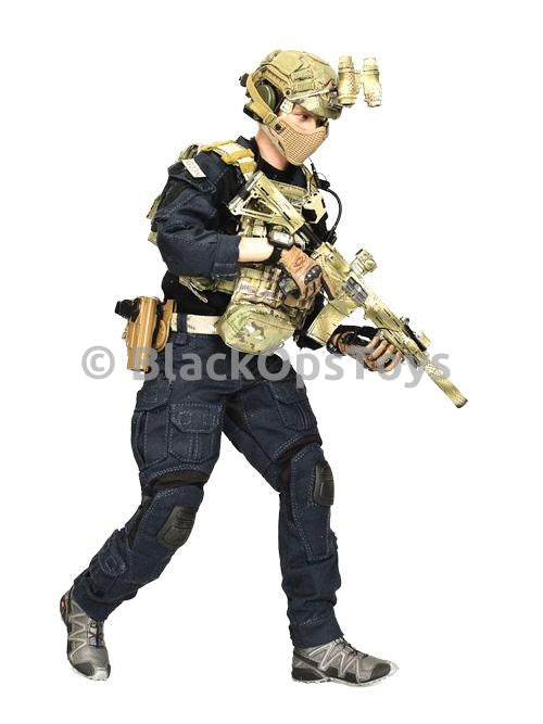 British SAS CRW Assaulter Black & Blue Uniform Set