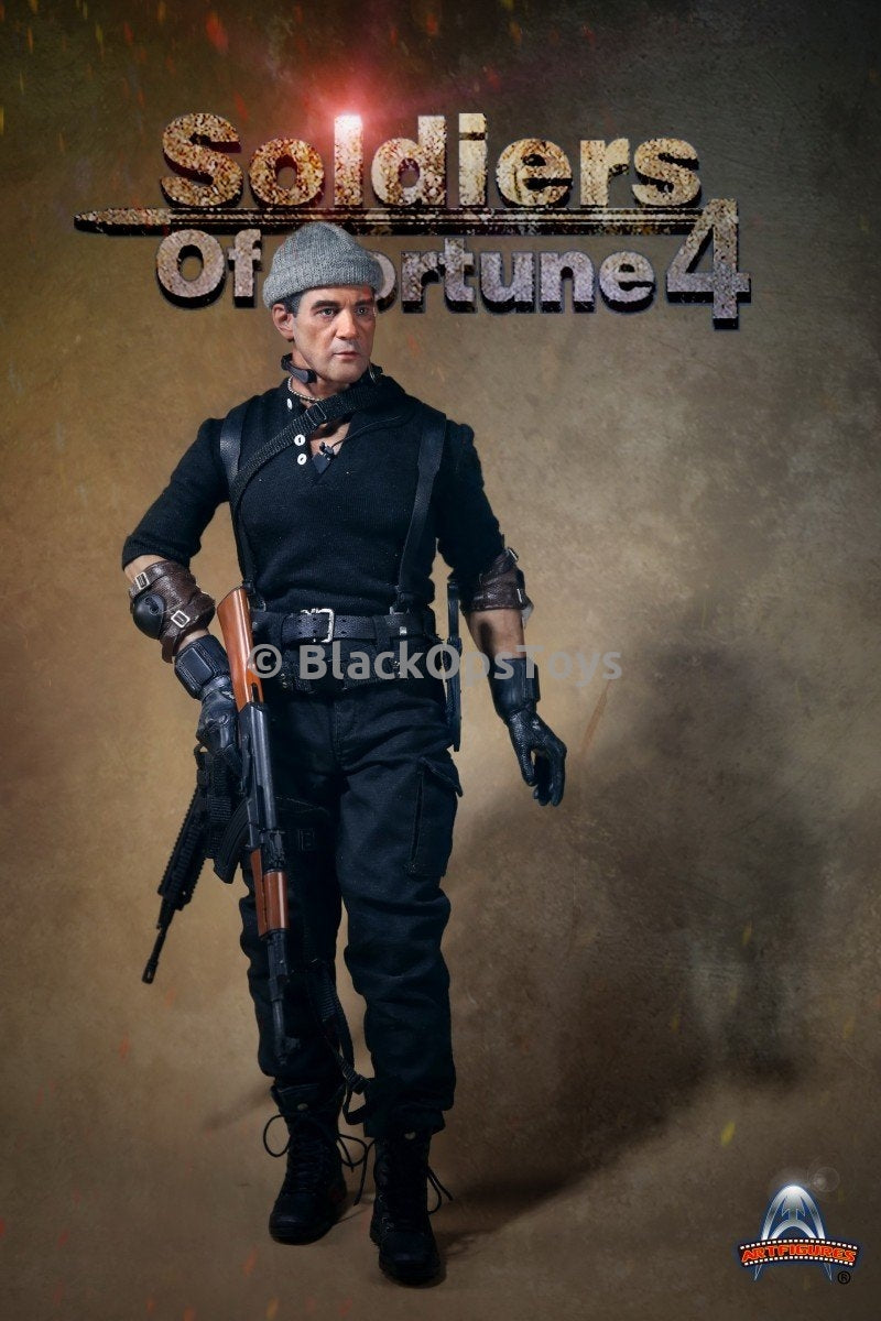 Soldiers of Fortune 4 Galgo from The Expendables 3 Black Leather Belt