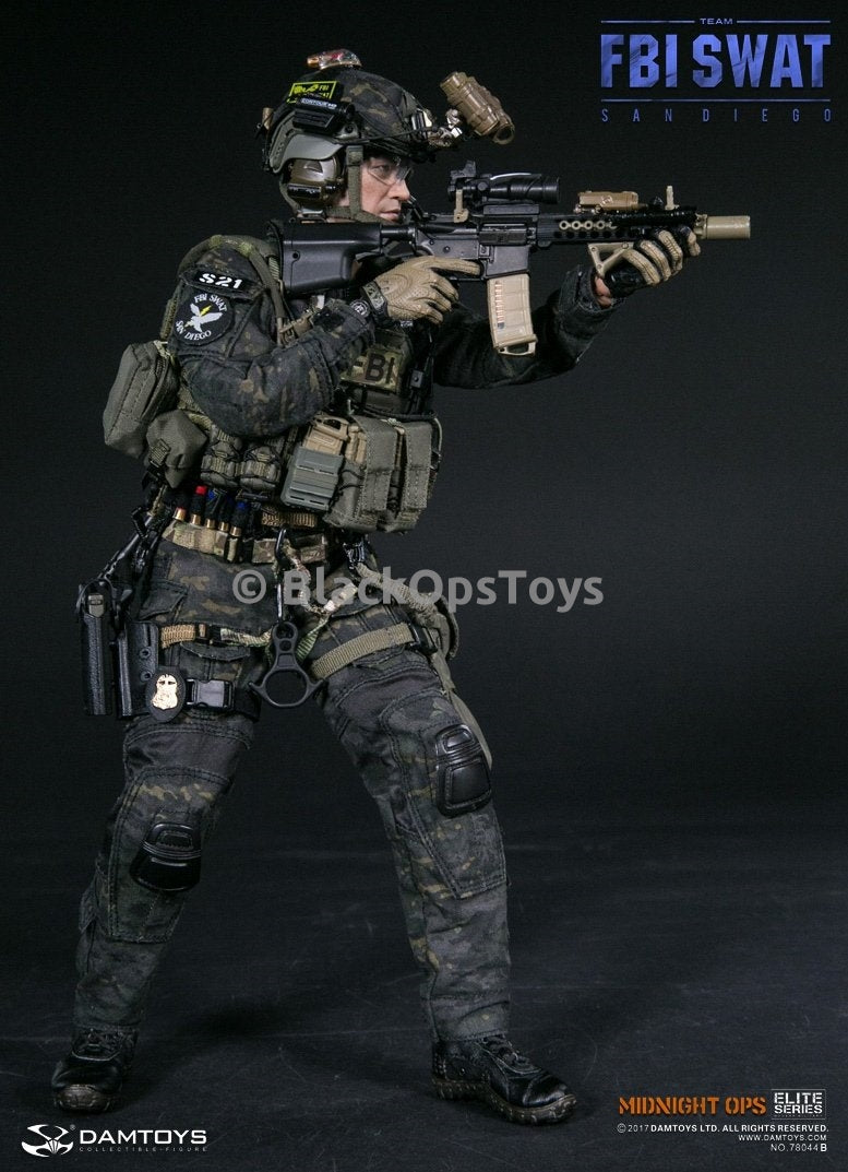 FBI SWAT Team Agent San Diego Midnight Ops Version B Black ... Fbi Combat Uniform