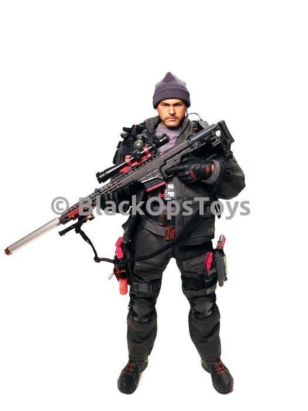 "BlackOpsToys EXCLUSIVE Wolf Grey ZERT Z Squadron Urban Sniper ""Black Jack"" Dark Zone"